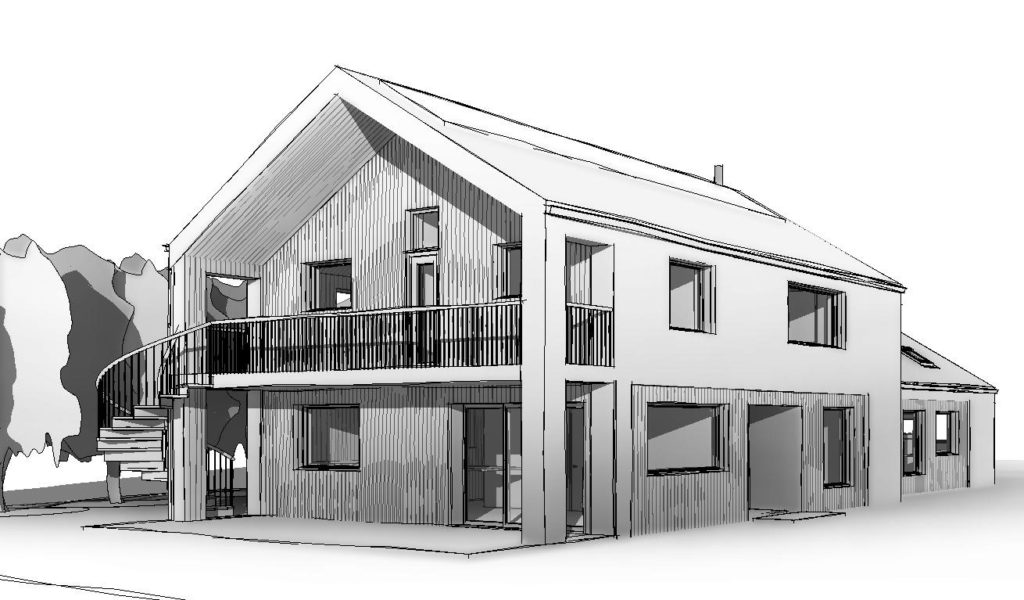 New house being built in Herefordshire....