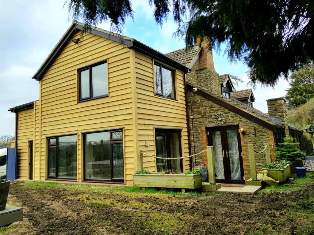 Domestic extension to stone cottage